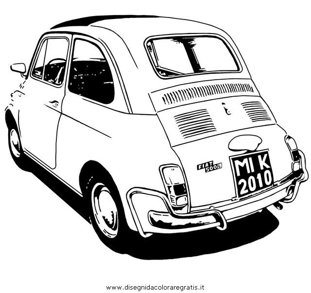 Disegno Fiat 500 Categoria Mezzi Trasporto Da Colorare