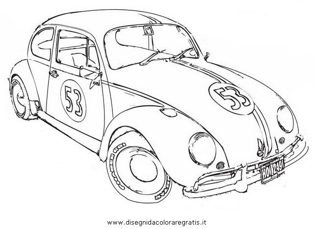 Love Bug Herbie The Movie Coloring Page Coloring Pages Herbie Coloring Pages