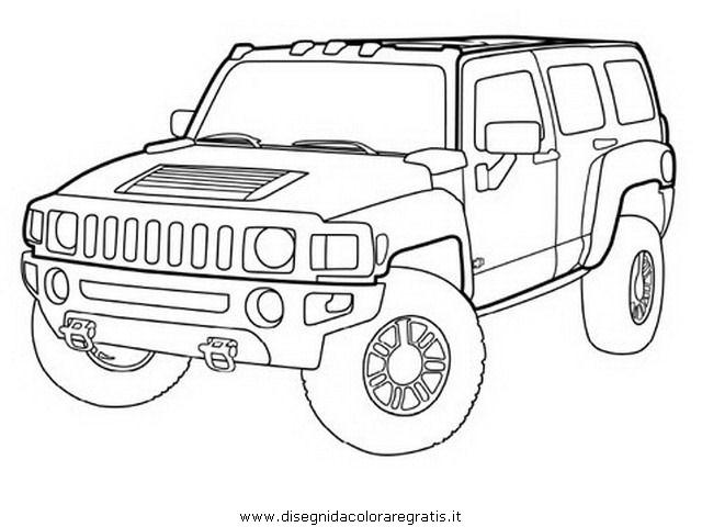 Disegno hummer 2 categoria mezzi trasporto da colorare for Jeep da colorare