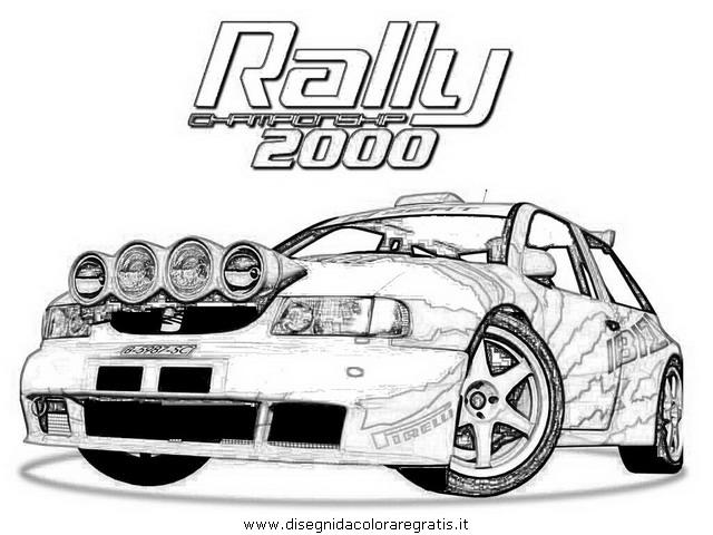 Disegno Rally 01 Categoria Mezzi Trasporto Da Colorare