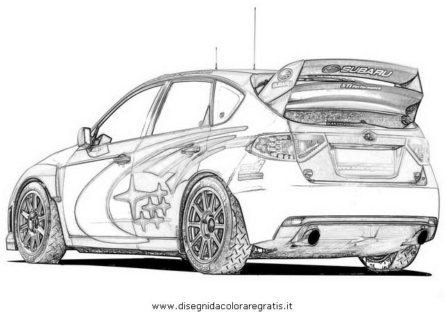 Disegno rally 03 categoria mezzi trasporto da colorare for Disegni da colorare macchine cars