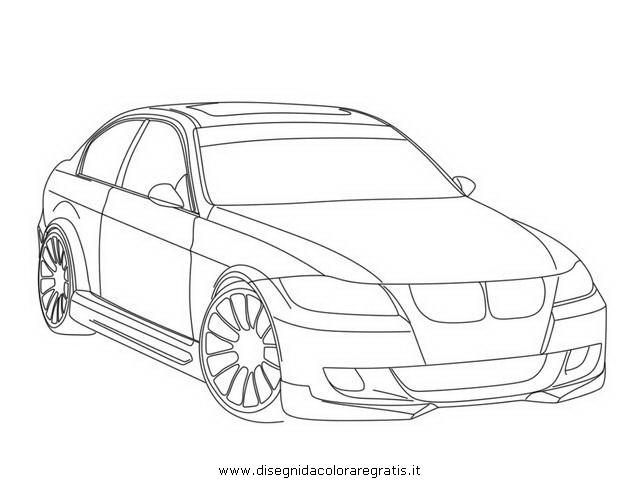 disegno tuning 4 categoria mezzi trasporto da colorare