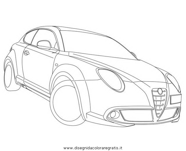 disegno alfa romeo mito categoria mezzi trasporto da colorare