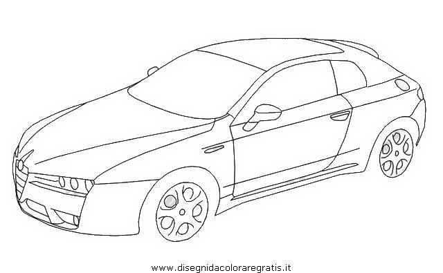 disegno alfa romeo brera categoria mezzi trasporto da colorare