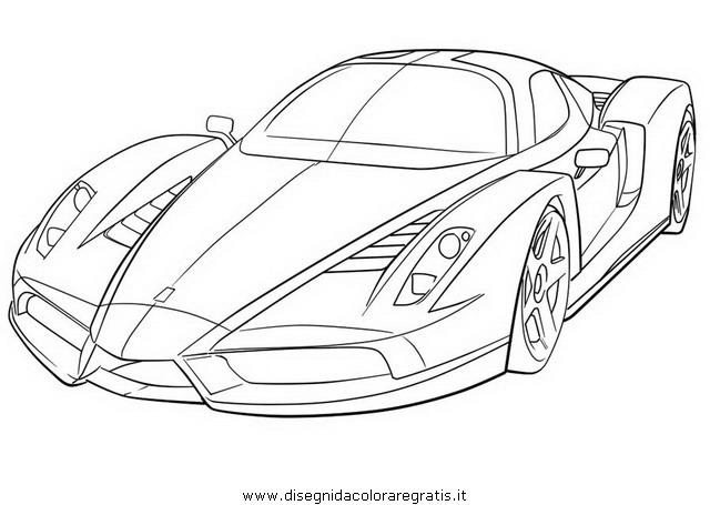 disegni da colorare auto ferrari