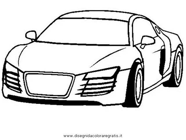 Disegno audi r4 categoria mezzi trasporto da colorare for Disegni da stampare e colorare cars