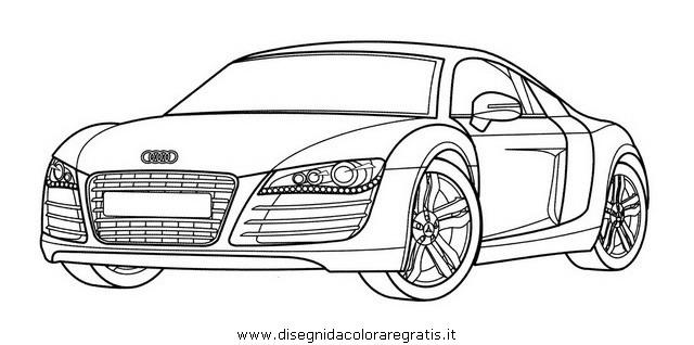 Disegno Audir8 Categoria Mezzitrasporto Da Colorare