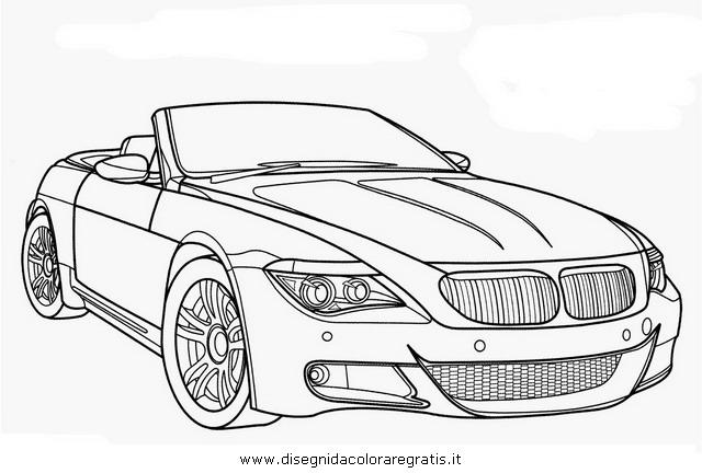 disegno bmw m6 categoria mezzi trasporto da colorare