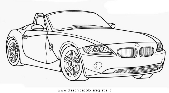 Disegno Bmw Z4 Cabriolet Categoria Mezzi Trasporto Da Colorare