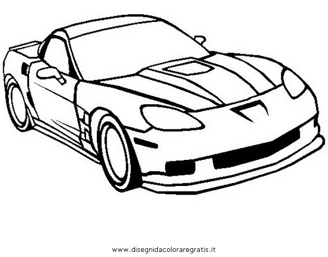 color corvette colouring pages page 2 - Corvette Coloring Pages Printable
