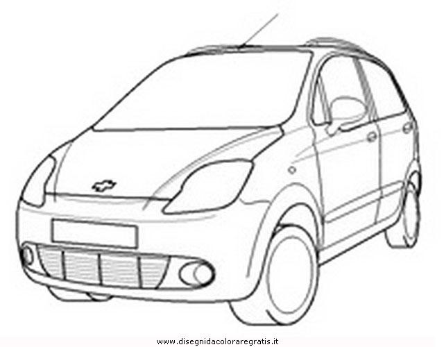 Disegno Daewoo Matiz Categoria Mezzitrasporto Da Colorare