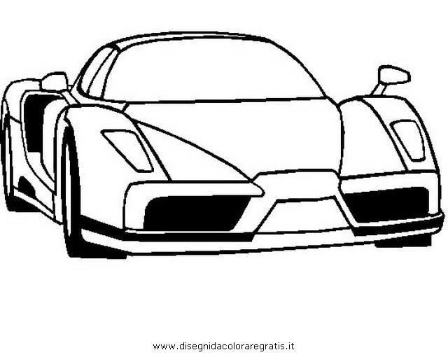 Disegno ferrari enzo2 categoria mezzi trasporto da colorare - Profili auto per colorare ...
