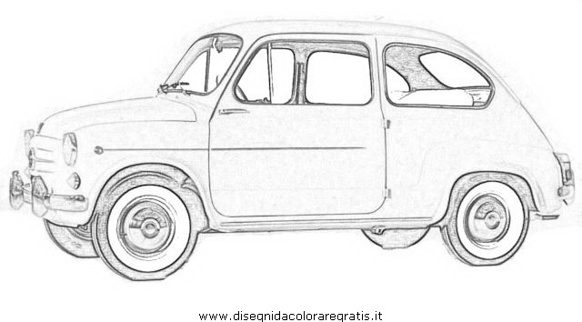disegno fiat 600 categoria mezzi trasporto da colorare