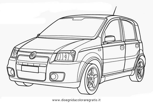 Disegno Fiat Panda Categoria Mezzitrasporto Da Colorare