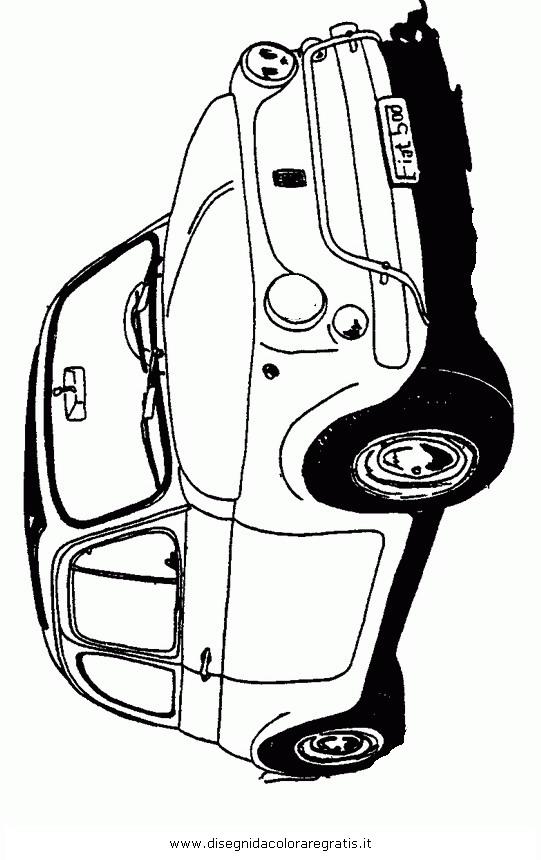 Disegno Auto Fiat 500 Categoria Mezzitrasporto Da Colorare
