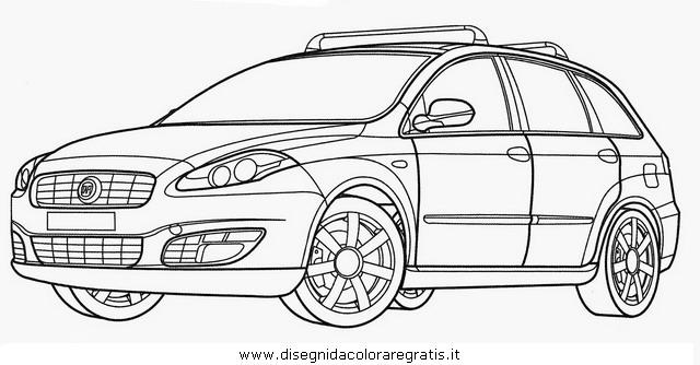 Disegno fiat croma categoria mezzi trasporto da colorare