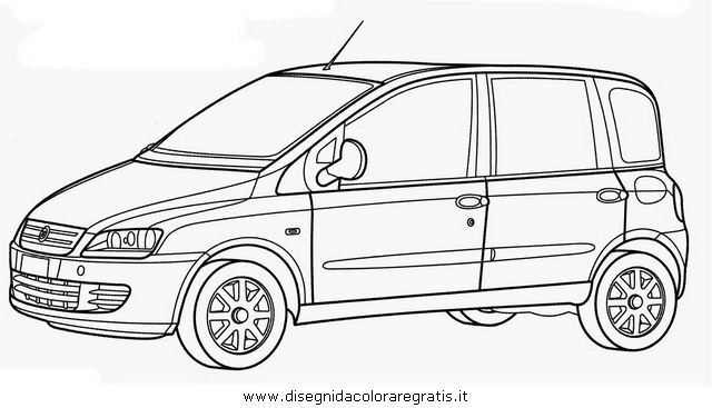 fiat coloring pages sketch coloring page