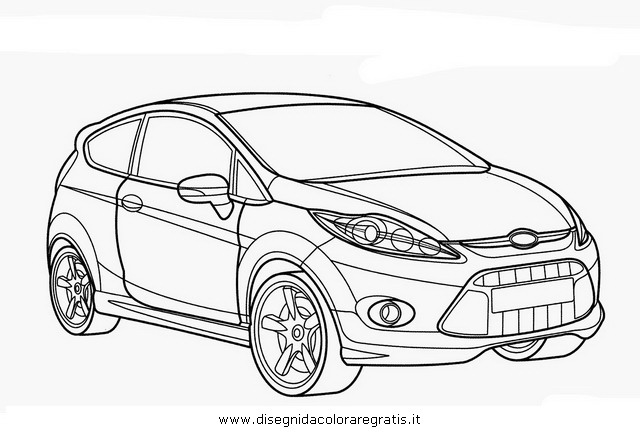 ford fiesta coloring pages