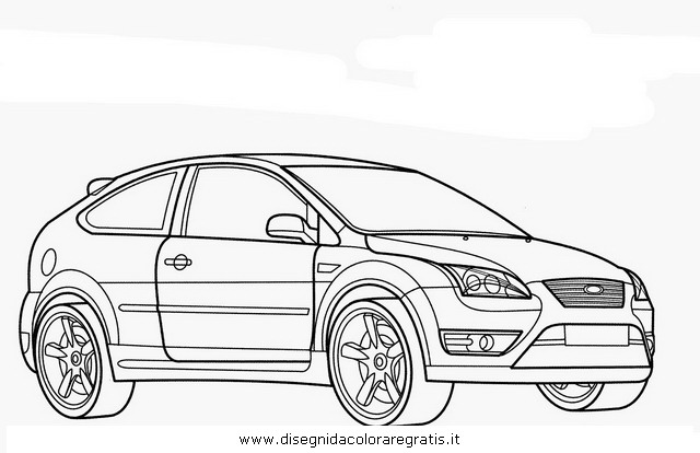 disegno ford focus categoria mezzi trasporto da colorare