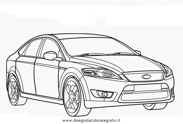 Disegno Ford Mondeo Categoria Mezzi Trasporto Da Colorare