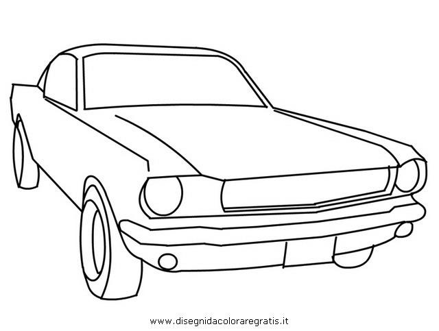 disegno ford mustang 1 categoria mezzi trasporto da colorare