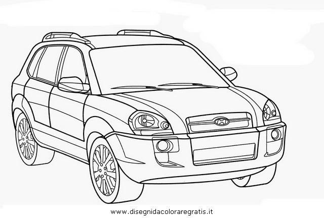 disegno hyundai tucson categoria mezzi trasporto da colorare