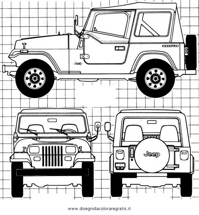 Disegno Jeep 2 Categoria Mezzi Trasporto Da Colorare