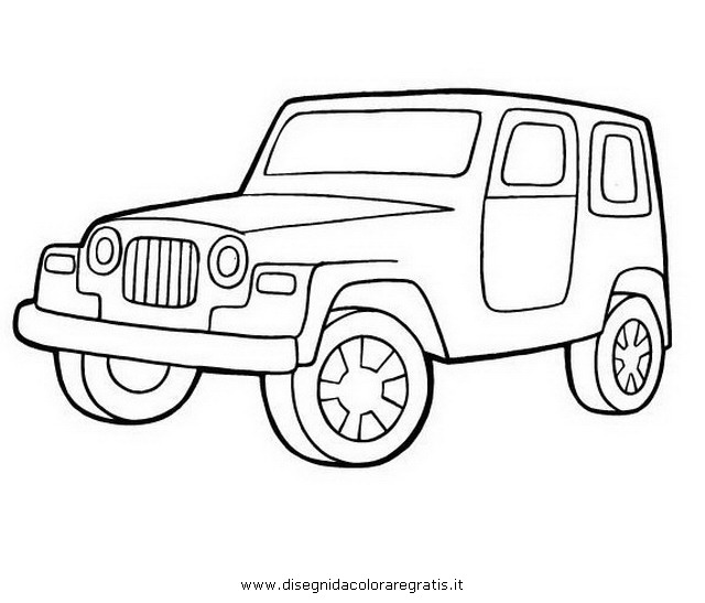 Раскраска онлайн для мальчиков машины джипы - 7