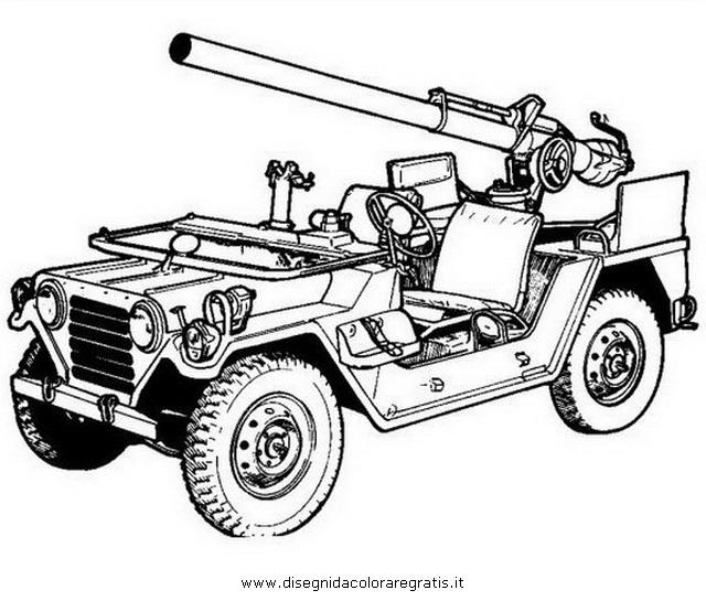 Disegno Jeep 4 Categoria Mezzi Trasporto Da Colorare