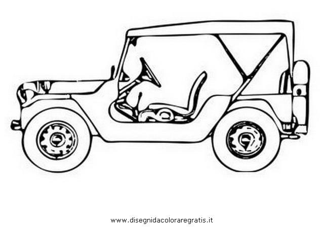 Disegno jeep 6 categoria mezzi trasporto da colorare for Jeep da colorare