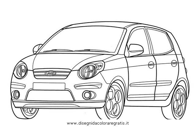 disegno kia picanto categoria mezzi trasporto da colorare