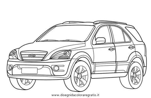disegno kia sorento categoria mezzi trasporto da colorare