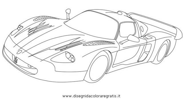 maserati coloring pages disegno maserati mc12 categoria mezzi trasporto da colorare