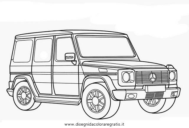 disegno mercedesg categoria mezzitrasporto da colorare