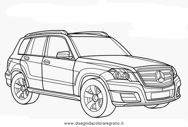 Disegno mercedes glk categoria mezzi trasporto da colorare for Coloring pages mercedes