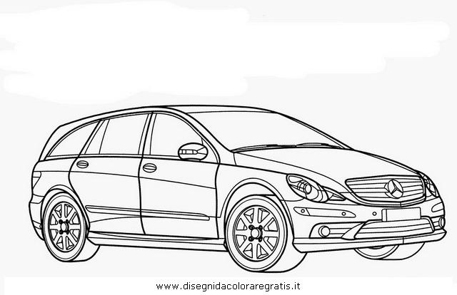 disegno mercedes r categoria mezzi trasporto da colorare
