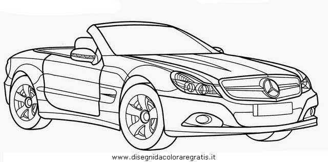 Disegno Mercedes Sl Categoria Mezzi Trasporto Da Colorare