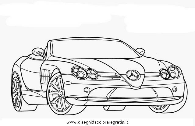Disegno mercedes slr categoria mezzi trasporto da colorare for Coloring pages mercedes
