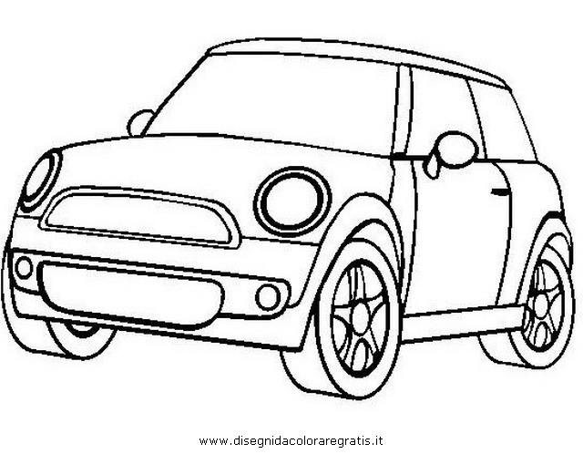 disegno mini cooper categoria mezzi trasporto da colorare