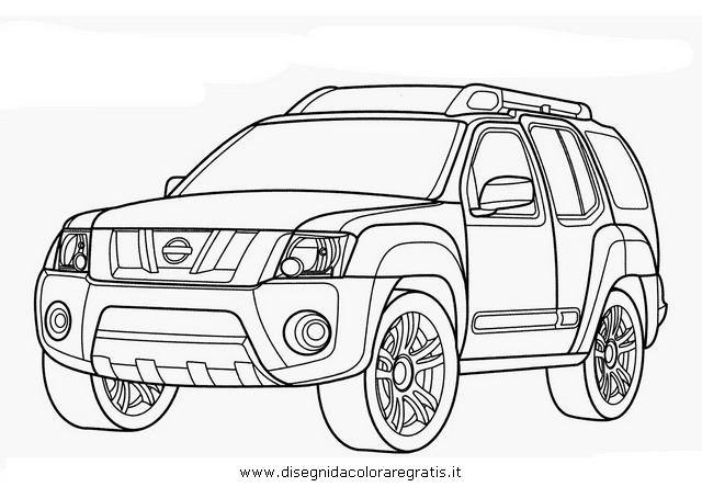 disegno nissan xterra categoria mezzi trasporto da colorare