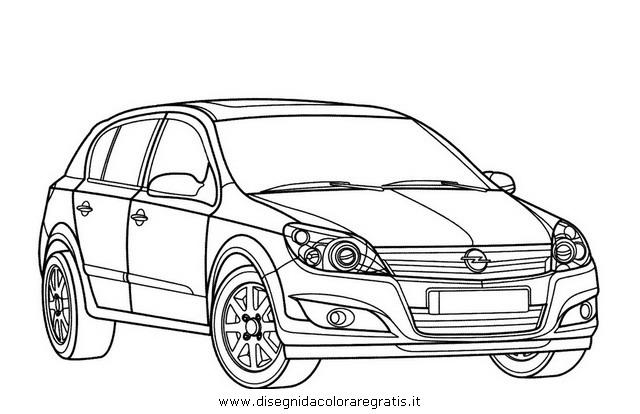 Disegno opel astra categoria mezzi trasporto da colorare for Disegni di garage rv