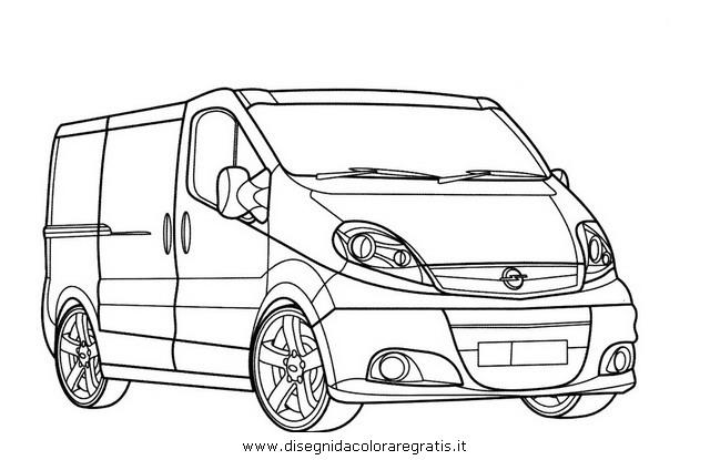 Disegno Opel Vivaro Categoria Mezzi Trasporto Da Colorare