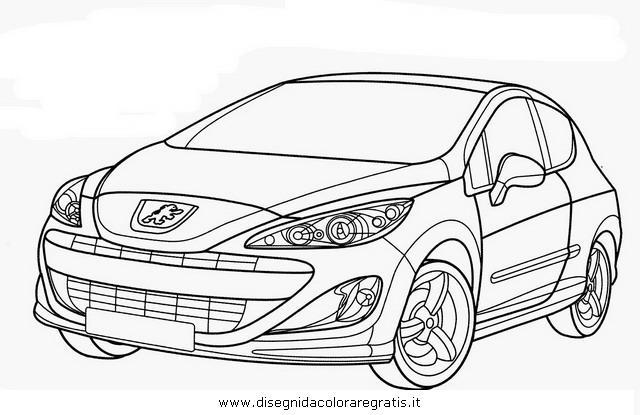 disegno peugeot 307gt categoria mezzi trasporto da colorare