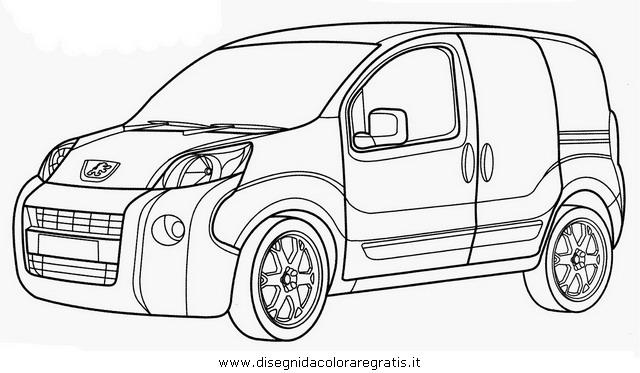 disegno peugeot 307 categoria mezzi trasporto da colorare