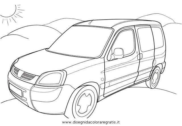 disegno peugeot partner categoria mezzi trasporto da colorare