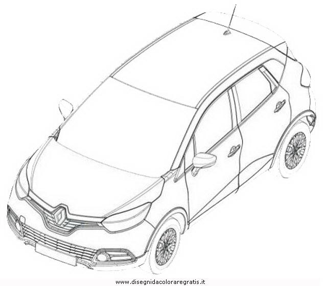 disegno renault captur categoria mezzi trasporto da colorare