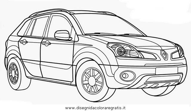 disegno renault koleos categoria mezzi trasporto da colorare