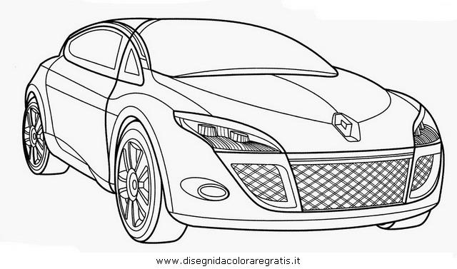 disegno renault megane categoria mezzi trasporto da colorare