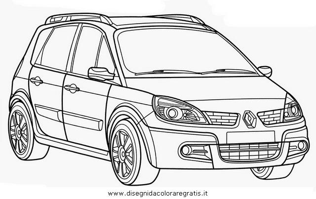 disegno renault scenic categoria mezzi trasporto da colorare
