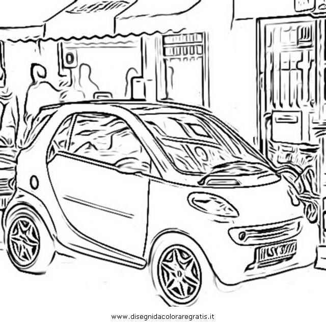 disegno smart categoria mezzi trasporto da colorare